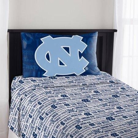 The Northwest Company NCAA North Carolina Tar Heels Anthem Twin Sheet Set ()