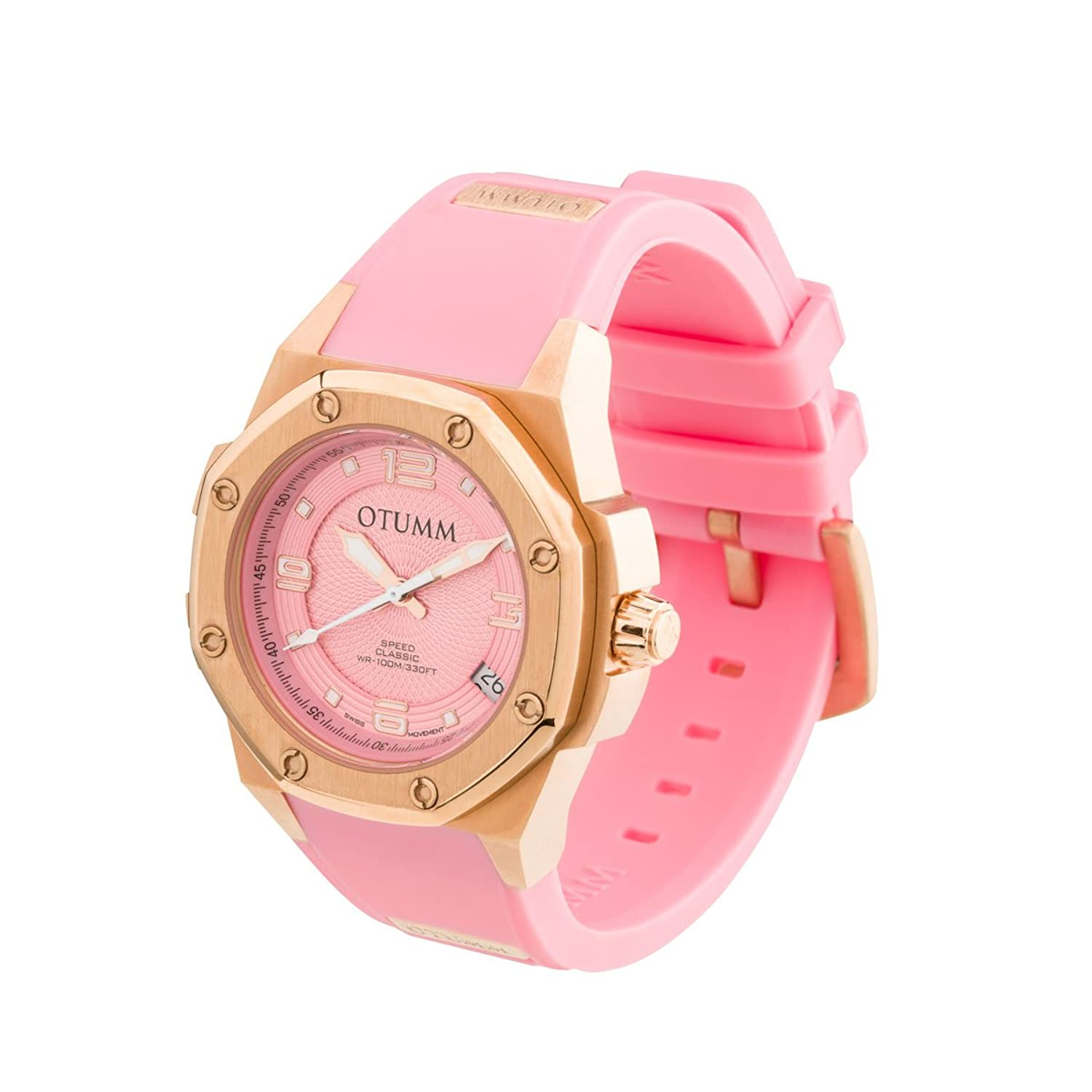 OTUMM Speed Classic 07368 Damen-Armbanduhr - 39mm (analog) - RosÉgold-Pink