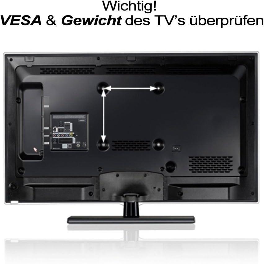 Curved televisores pdv111 N, televisores con doppelarm, inclinable, LCD, LED y de plasma Soporte de pared para televisores de 81 – 140 cm (32 – 55 pulgadas), VESA: 200 x 200, 400 x 200, 300 x 300, 400 x 400: Amazon.es: Informática