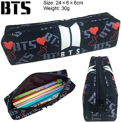 BTS Bangtan - Estuche para lápices de niños, monedero, para la escuela, con cremallera, color bts 2: Amazon.es: Oficina y papelería
