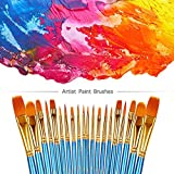 BOSOBO Paint Brushes Set, 2 Pack 20 Pcs Round