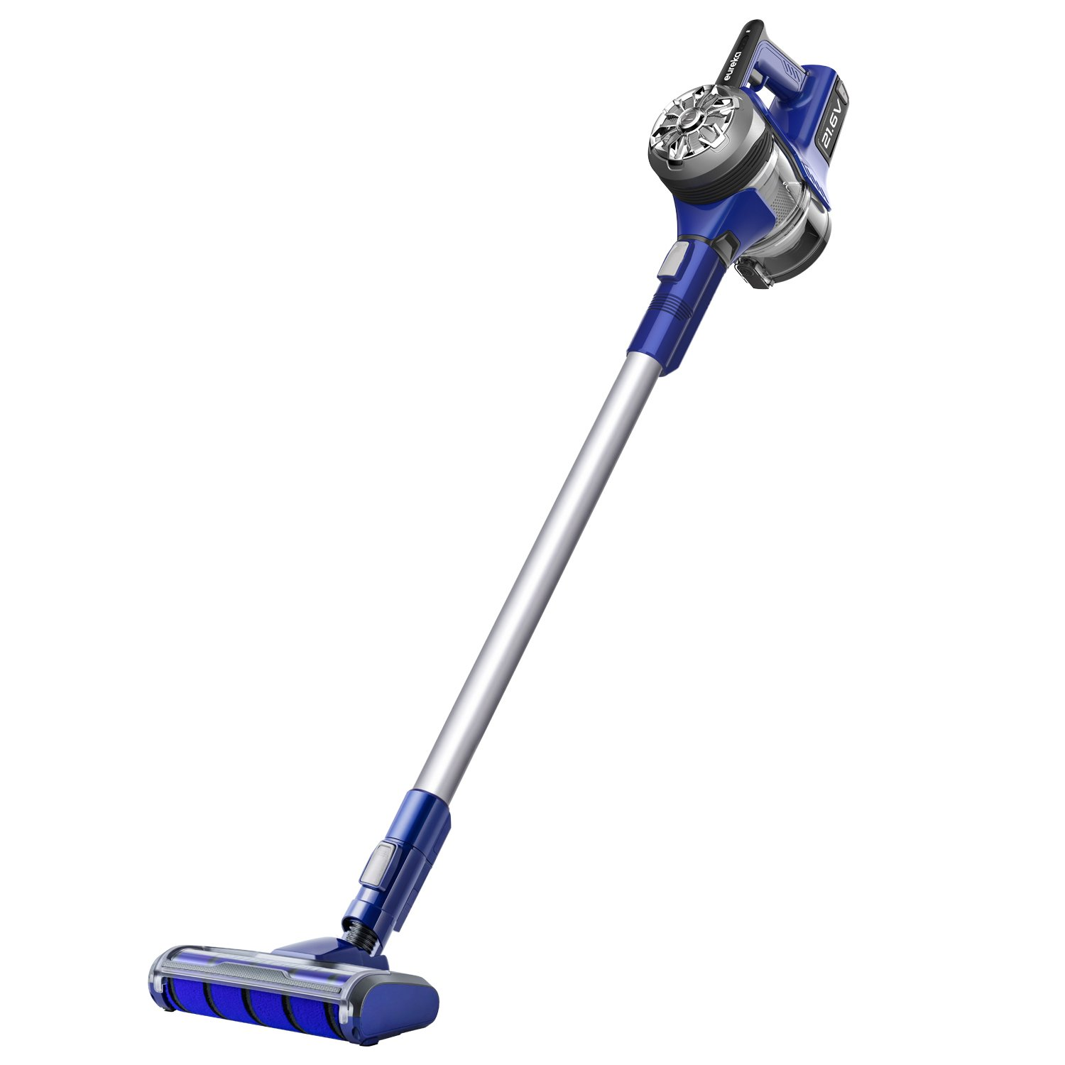 Eureka NEC122A Power Plush Cordless 2-in-1 Stick Vacuum, Rechargeable Lithium Ion Battery with Wall Mount, Gray/Blue Violet
