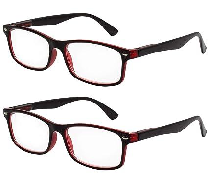 c3c06fac5a TBOC Gafas de Lectura Presbicia Vista Cansada - (Pack 2 Unidades) Graduadas  +2.50 Dioptrías Montura de Pasta Bicolor ...