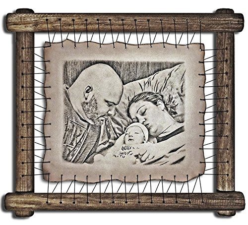 19th Anniversary Gift Ideas For Husband 19 Year Anniversary Gift For Wife Nineteenth Wedding Anniversary Nineteen Marriage Presents - RARE Hand Drawn Pyrography Technique
