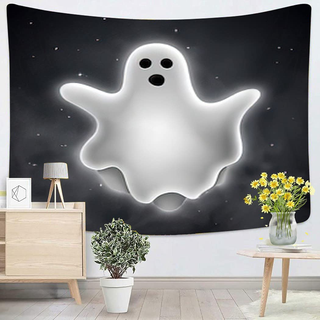 Magic Creature Magic Creature Flying Ghost Outdoors Halloween Cartoon Wall Tapestry Wall Hanging for Bedroom Dorm Living Room Outdoor Wall Art Decor - 50