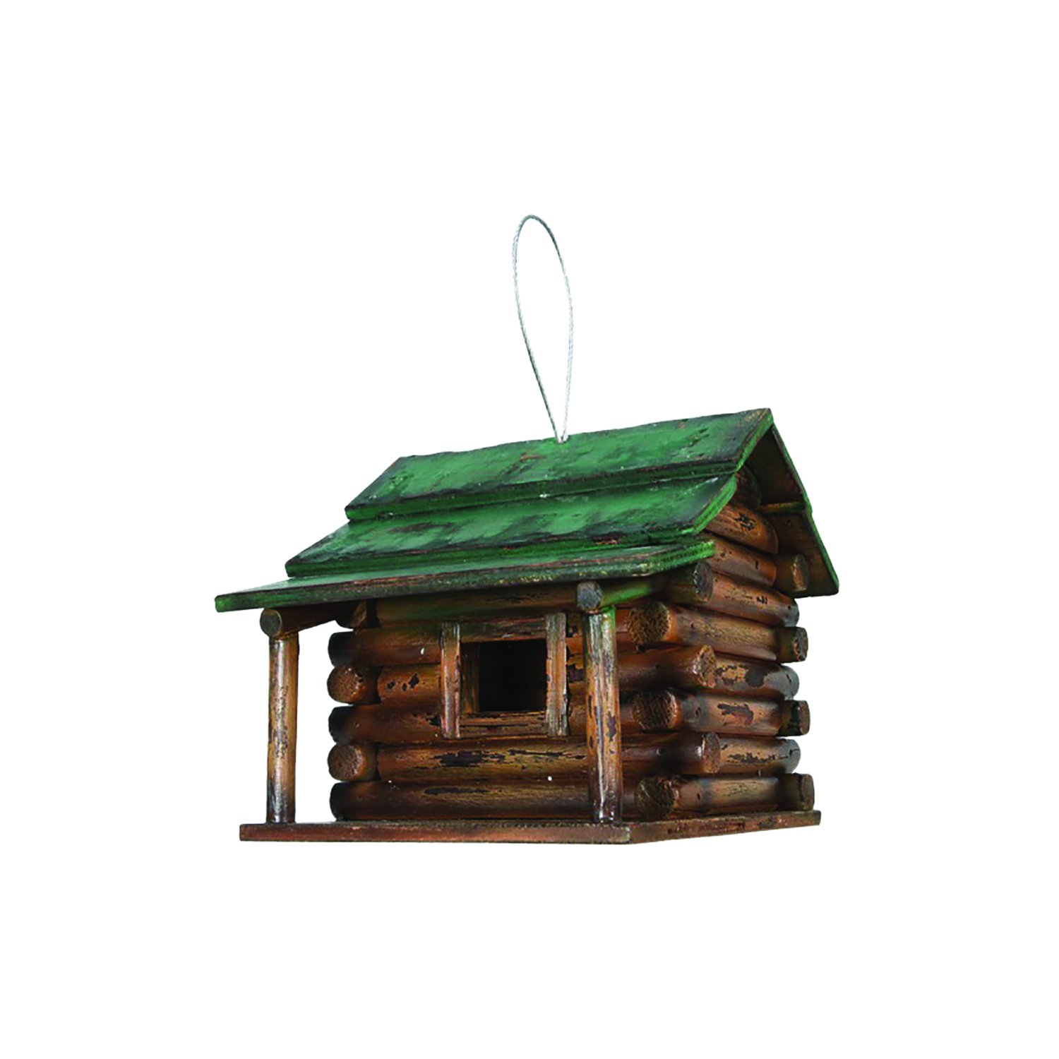 Log Cabin Hanging Birdhouse