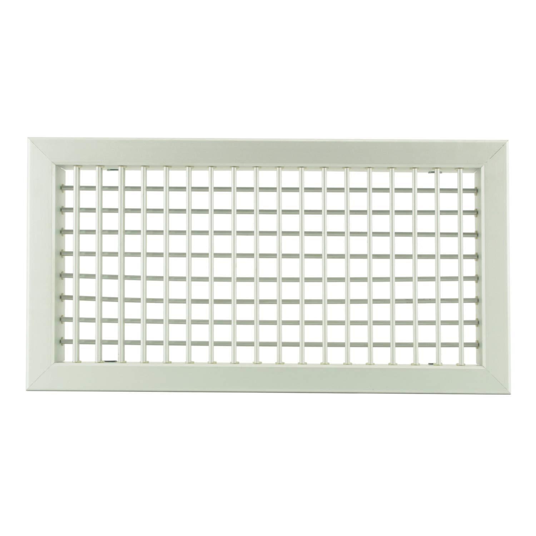 Bocchette Griglie altezza 200mm in alluminio o bianco con Alette orientabili Singolarmente - Bianco, 1000x200mm Idrotop ACCES. CLIMA