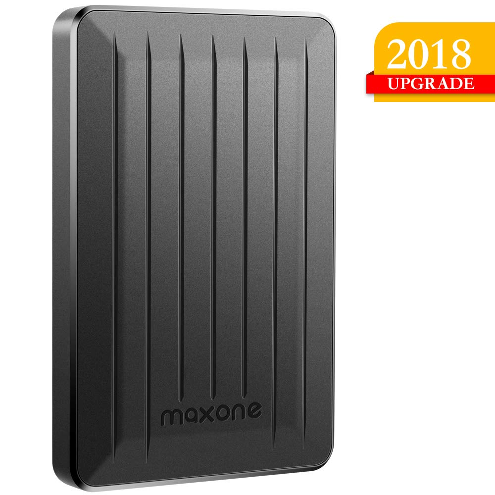160GB Portable External Hard Drive- 2.5 Inch External Hard Drives for Laptop,Desktop,Wii U,MacBook,Chromebook (160GB, Black) by Maxone (Image #1)