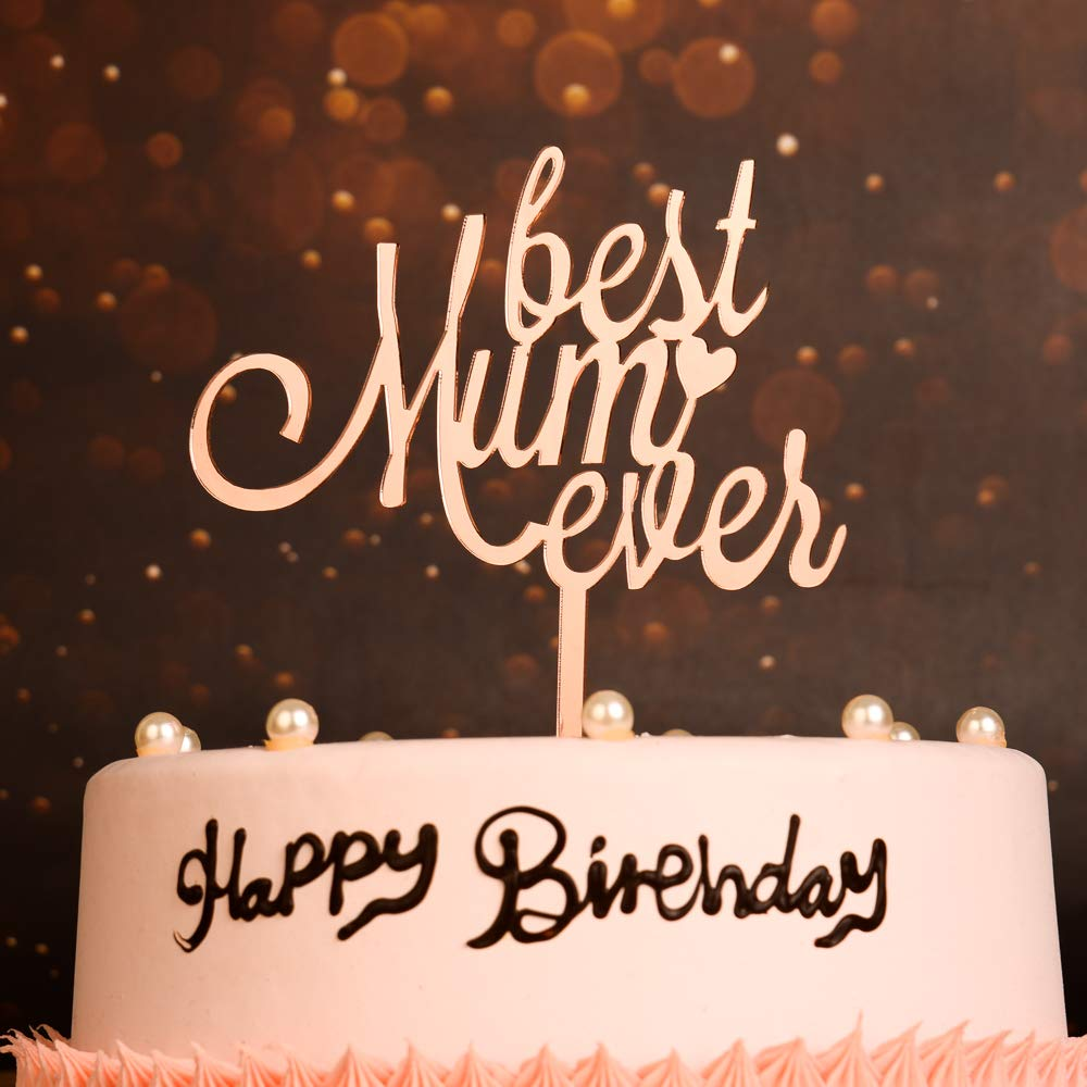 Mothers Day Mums Birthday Edible Cupcake Toppers Cake Decorations Best Mum
