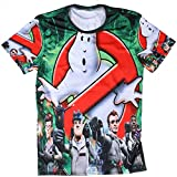 Ghostbusters Men's Round Neck Fashion 3D Print Short Sleeve T-Shirt Funny Designed Tee Shirt for Mens