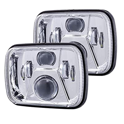 New Osram Chips 110W 5x7 Inch Led Headlights 7x6 Led Sealed Beam Headlamp with High Low Beam H6054 6054 Led Headlight for Jeep Wrangler YJ Cherokee XJ H5054 H6054LL 6052 6053 Silver 2 Pcs: Automotive
