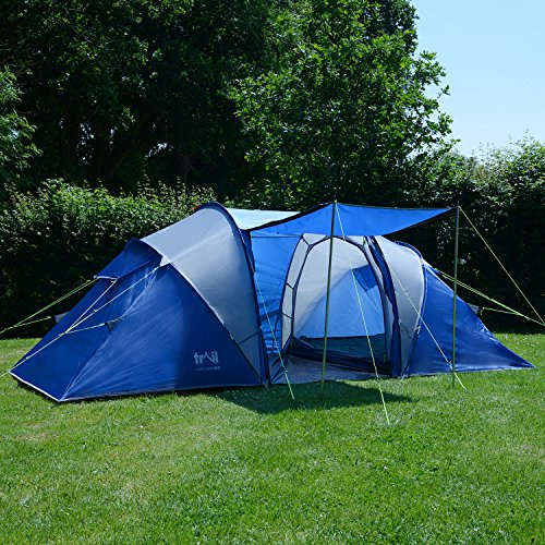 ▷ Review and Test : Trail 4 Man Family Tunnel Tent Awning