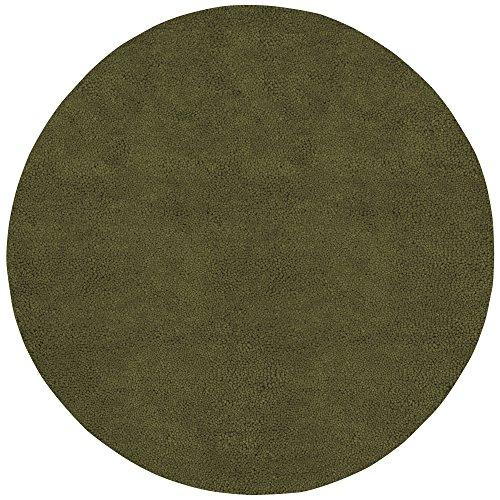 Surya Aros AROS-7 Shag Hand Woven 100% New Zealand Felted Wool Dark Olive Green 8' Round Area - Shag Rug Green Aros