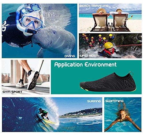 Chaussettes Nautiques Plage Femmes Chaussures De La Aqua D'arobic Sports Schage Aquatiques Surf Hommes Pour Yoga Rapide Noir Barefoot Natation Piscine EEPq1