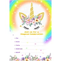 Tarjetas de cumpleaños del unicornio de AerWo 20pcs