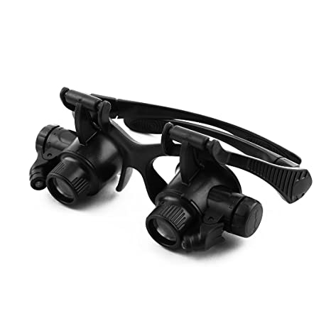 Amazon.com: eDealMax Patente autorizado joyería reparación del reloj LED iluminado Headwear 10X 15X 20X 25X de la lupa de la lupa: Health & Personal Care