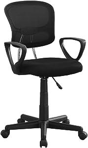 Monarch Specialties I Mesh Juvenile/Multi-Position Office Chair, Black