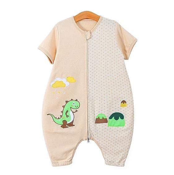 Chilsuessy Baby Schlafsack Bio Baumwolle Sommer 0.5 Tog Unisex  Kinderschlafsack Mit Füßen , Dinosaurierwelt, L