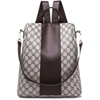 MYXMY Leather Texture Korean Student Bag Casual Fashion Wild Soft Skin Mummy Backpack Trend Personality Backpack