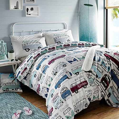 Lowest Price! Ashley Wilde Volkswagen Surf's Up Single Duvet Cover and Pillowcase Set