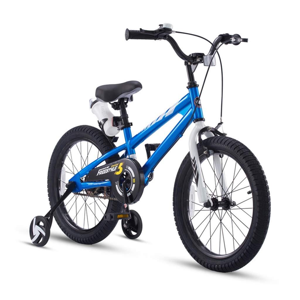 18インチ 自転車 男の子 自転車 女の子 バイク アウトドア スポーツ バイク 子供 自転車 5 – 9歳のお子様に最適 18 inches ブルー B07P3K8YK2