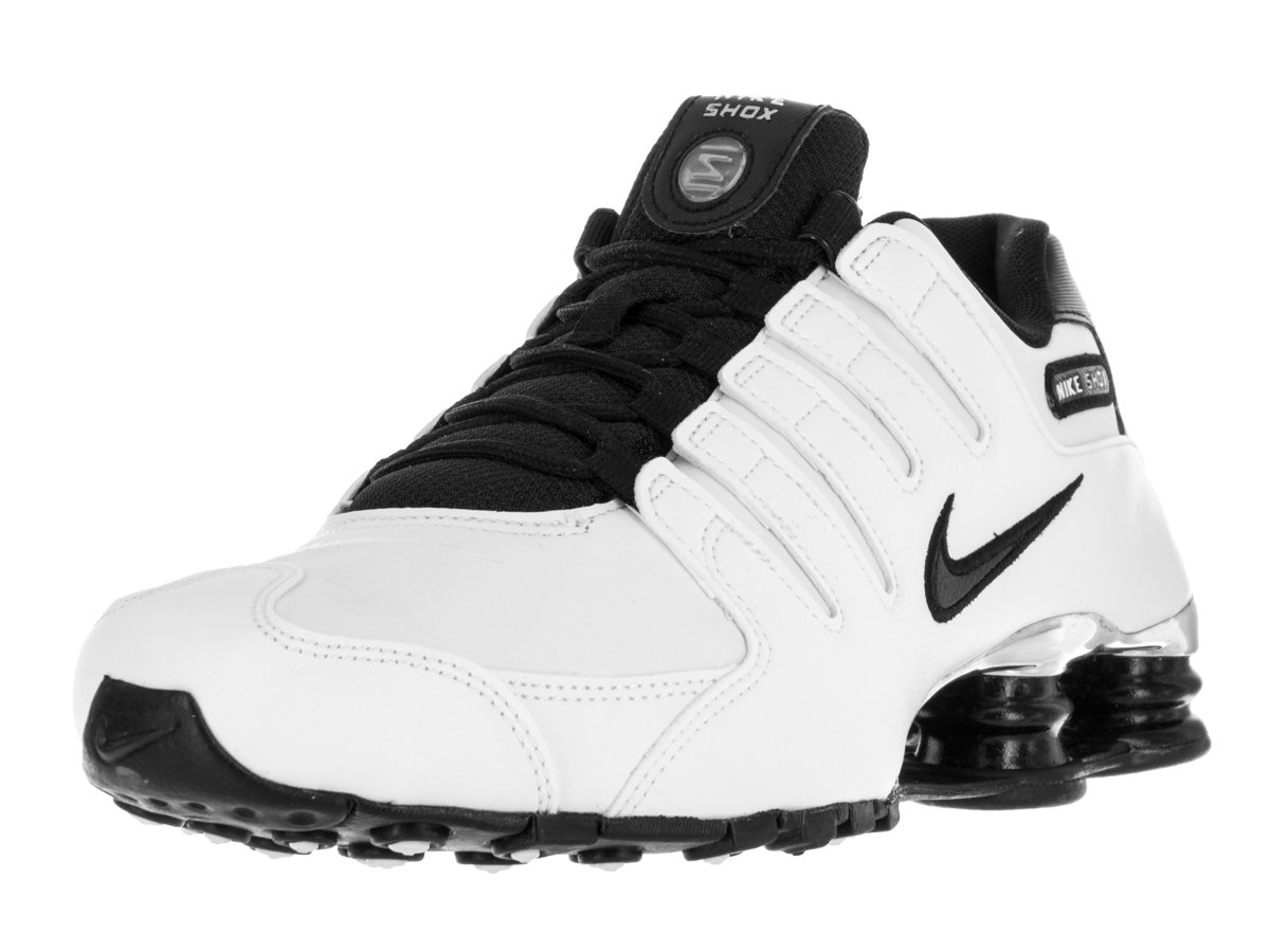 outlet store a7762 dca0b Galleon - NIKE Men s Shox NZ Running Shoe White Black Black Wolf Grey 10