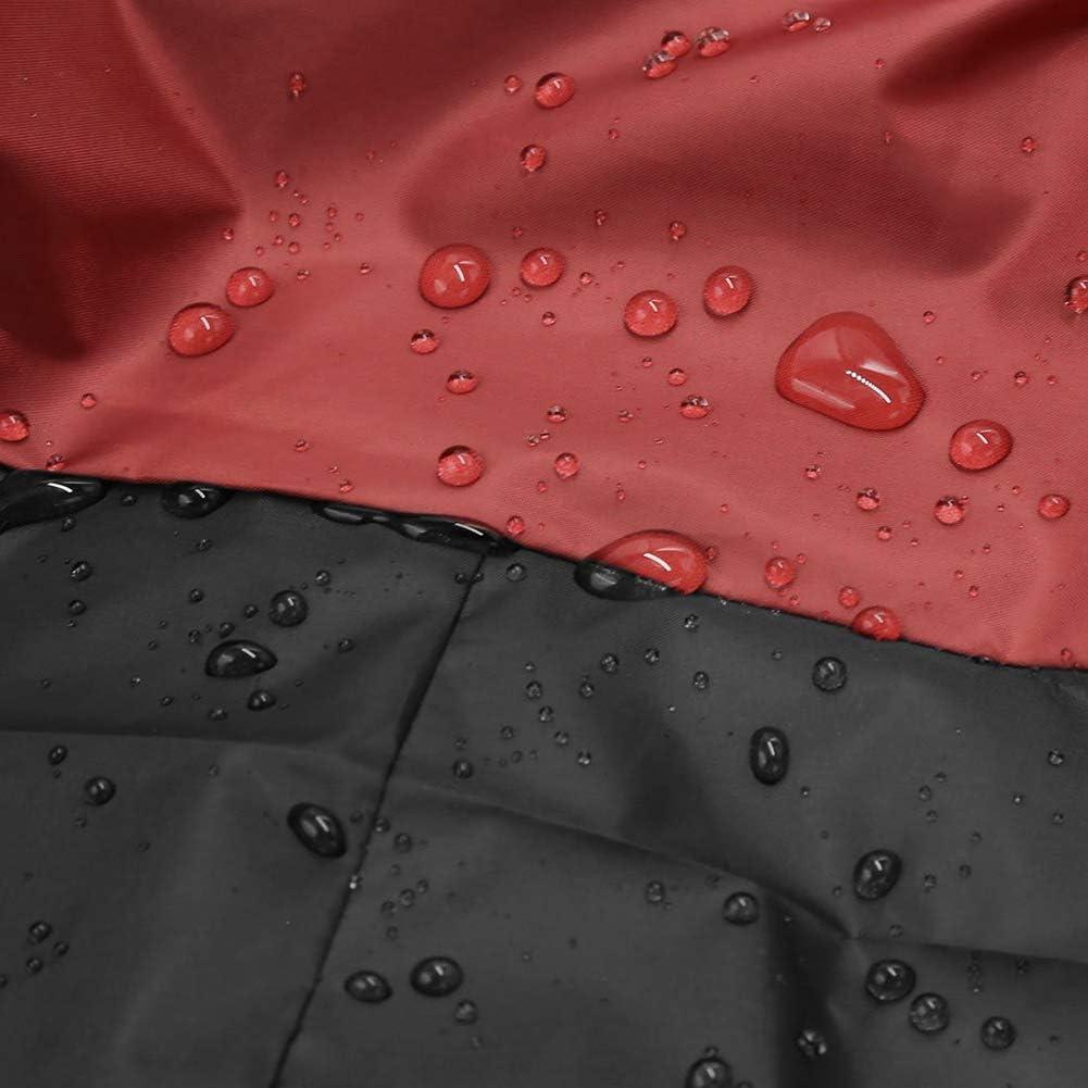 Wasserdicht Nylon PVC-Beschichtung Outdoor//Indoor Motorrad Abdeckplane Staubdicht Regenschutz mit Aufbewahrungstasche,S6,XXXL STTC Motorradabdeckung