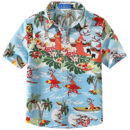SSLR Big Boys' Santa Claus Party Tropical Ugly Hawaiian for sale  Delivered anywhere in USA