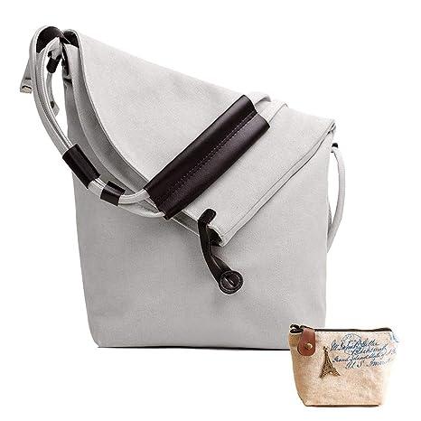 a9ecd22b8 Lona Bolso Bandolera,Bolsos de Mujer Bolso de Hombro Tote Bolso Shopper  Callejero Bag Unisex