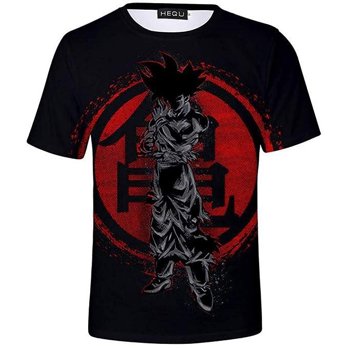 New Women Men Dragon Ball Red Goku Print Casual 3D T-Shirt Short Sleeve Tops Tee