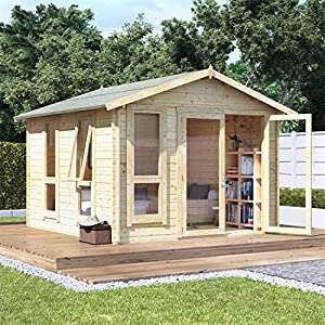 10x10 Log Cabin Kit 28mm Summerhouse Shed