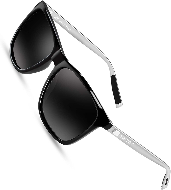 Sunmeet Gafas de sol Hombre Polarizadas Clásico Retro Gafas de sol para Hombre UV400 Protection S1001