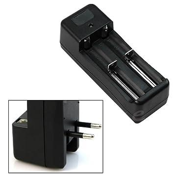 Malloom® Doble cargador de batería universal para 2 Batería Pila Litio 18650 16340 26650 recargable 3.7V Li-ion