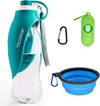Yicostar Dog Water Bottle for Walking