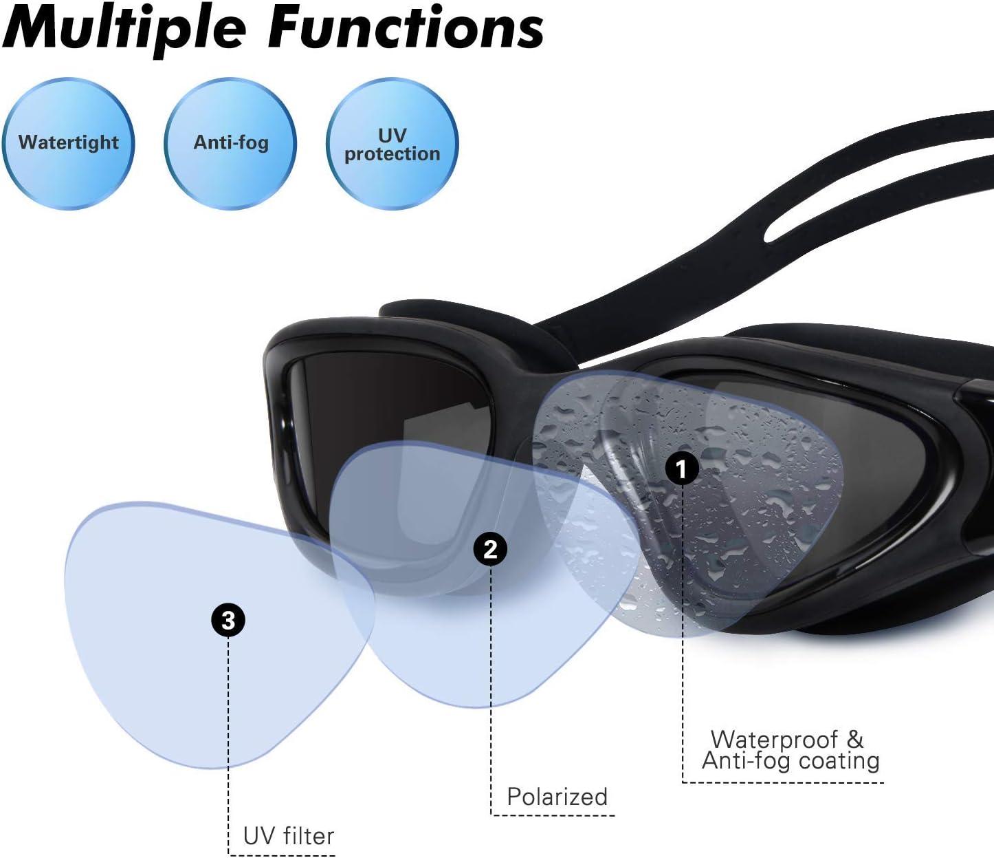 No Leaking Anti Fog UV Protection Swim Goggles Soft TOPLUS Swimming Goggles