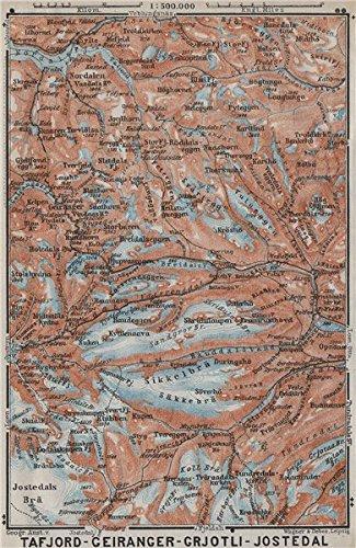 Amazoncom Geiranger Polfos Tafjord Jostedal Grotli Topomap - Norway map amazon