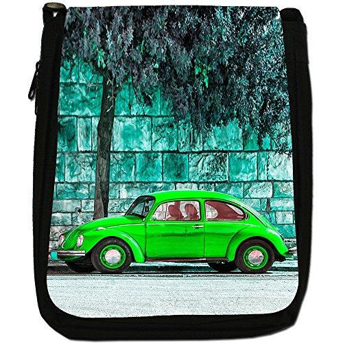 Old Car Black Size Green Beetle Shoulder Canvas Classic Bag Medium 71qIwEg7xr