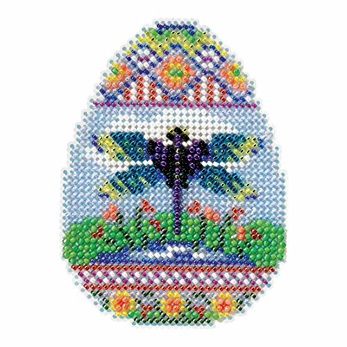 Dragonfly Egg Beaded Counted Cross Stitch Ornament Kit Mill Hill 2016 Spring Bouquet MH181612