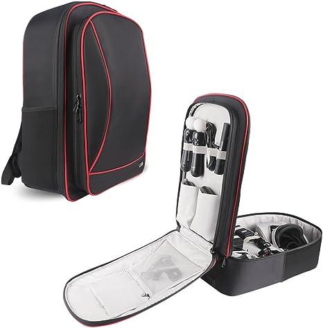 BUBM Bolsa de Almacenamiento/Mochila Organizador de Gadget de Viaje para PS VR, Consola de Juegos PS4 y Accesorios, de Alta Capacidad y Todo en un Solo Lugar, cómodo para Llevar PS4 Pro