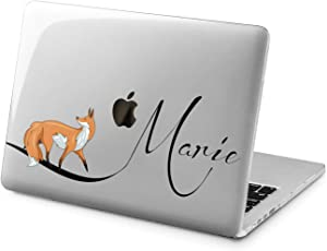 """Cavka Hard Shell Case for Apple MacBook Pro 13"""" 2019 15"""" 2018 Air 13"""" 2020 Retina 2015 Mac 11"""" Mac 12"""" Name Design Protective Custom Cover Print Laptop Personalized Fox Lovely Cute Animal Plastic"""