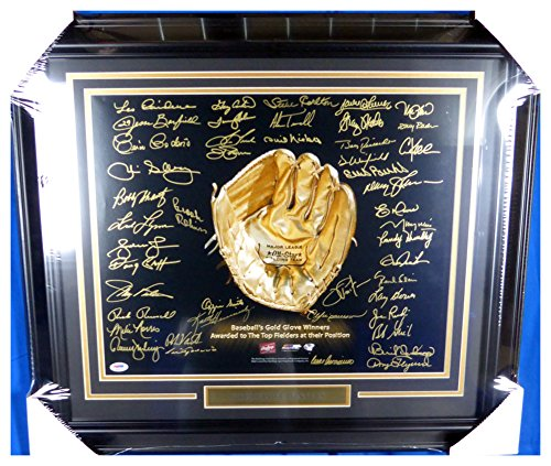 rs Signed Autograph Framed 16x20 Photo With 45 Signatures Including Brooks Robinson, Ozzie Smith & Gary Carter - PSA/DNA Authentic ()