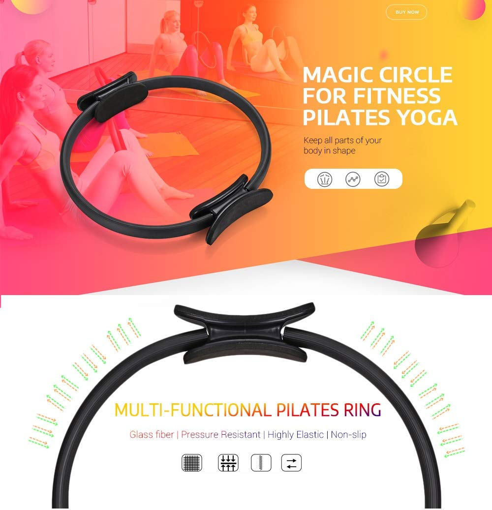 Amazon.com: SANDAO Fitness Pilates - Anillo de yoga con ...