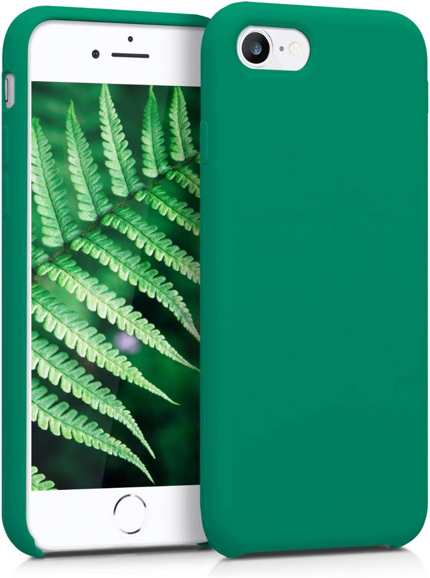 kwmobile TPU Silicone Case Compatible with Apple iPhone 7/8 / SE (2020) - Case Slim Protective Phone Cover with Soft Finish - Emerald Green