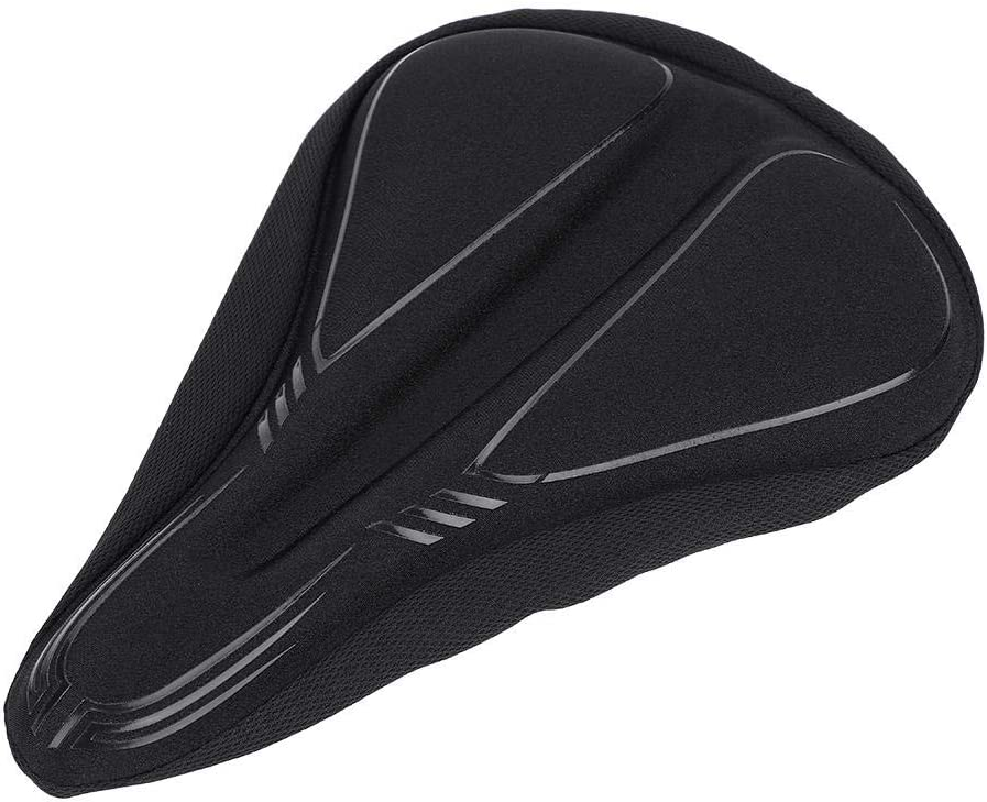 Keenso Comfortable Bike Thickening Saddle Cover for Padded Bicycle Saddle with Soft Cushion Replacement Improves Riding Comfort