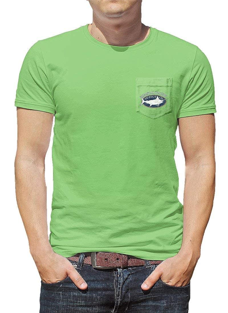 Coastal Waters Mens Short Sleeve Pocket T-Shirt