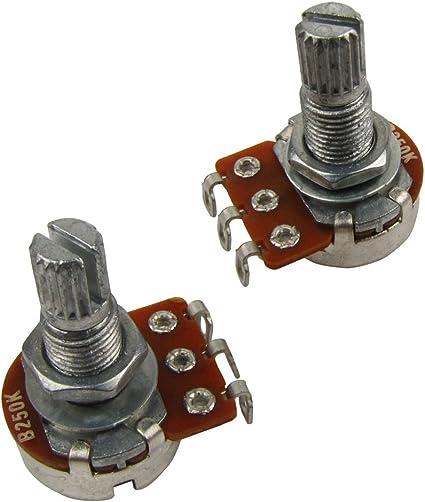 IKN 2pcs B250k L18mm Potenciómetro del tono de la guitarra del ...