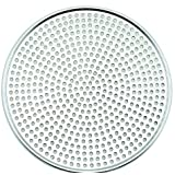Winco AMS-14, Aluminum Mega Pizza Screen, 14-Inch Inner Diameter and 14.75-Inch Outer Diameter Pizza Crisper, Perforated Pizza Disk