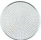 Winco AMS-17, Aluminum Mega Pizza Screen, 17-Inch Inner Diameter and 17.75-Inch Outer Diameter Pizza Crisper, Perforated Pizza Disk