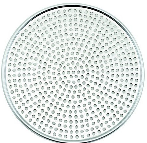 Winco AMS-17, Aluminum Mega Pizza Screen, 17-Inch Inner Diameter and 17.75-Inch Outer Diameter Pizza Crisper, Perforated Pizza Disk by Winco