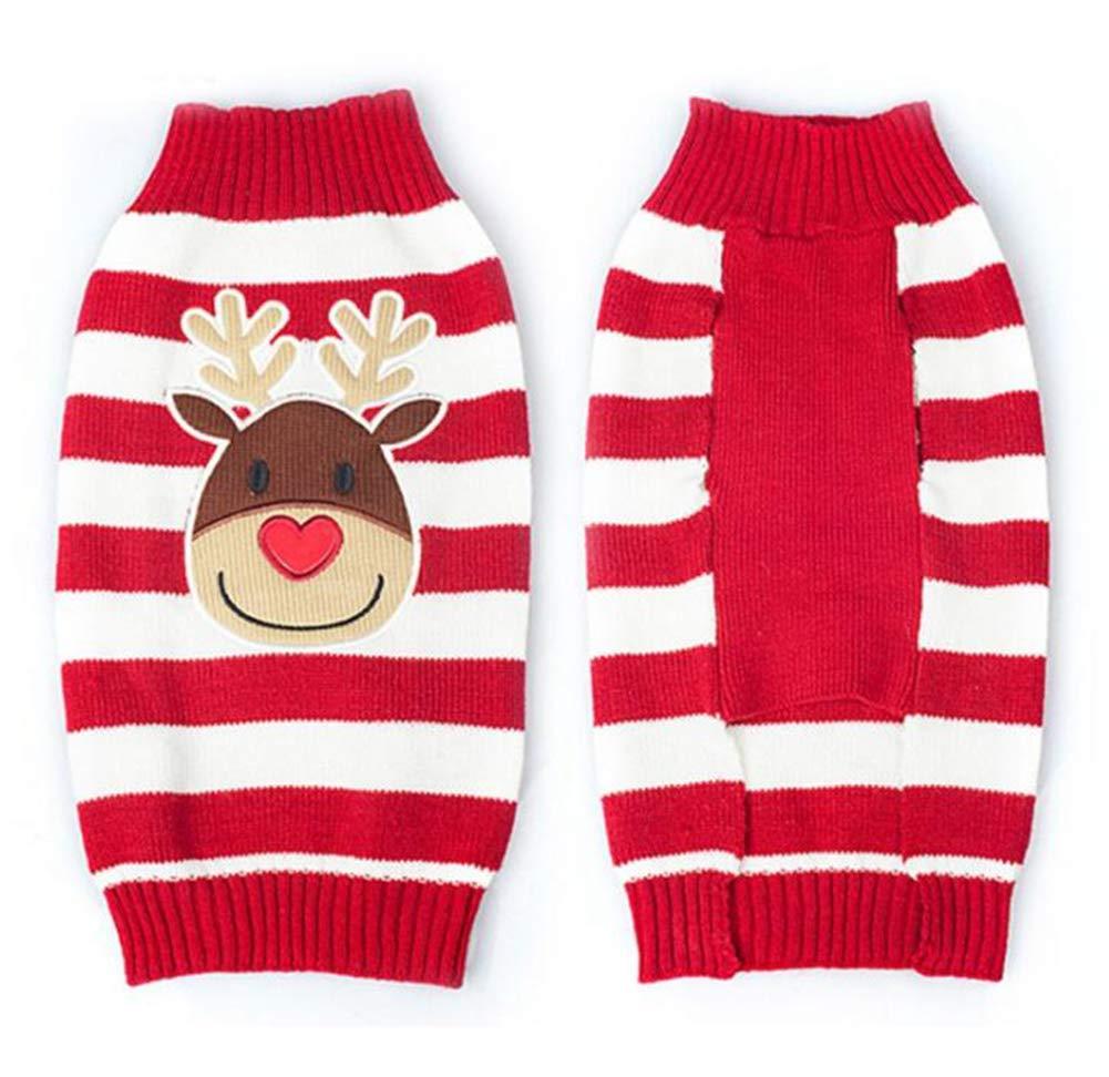 Smoro Rosso Carino Cucciolo di Cane Gatto Caldo Maglione Maglia Maglione Cappotto Abbigliamento Abbigliamento Piccolo Cane Cucciolo Maglione di Natale Renna Costume
